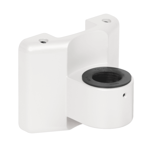 Slatwall mount in white.